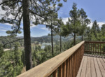 view of Lake Gregory from upstairs deck